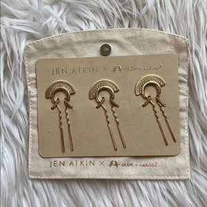 Jen Atkin x Chloe+Isabel Gold Fan Hair Pins